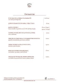 Nueva carta ARAGONIA PALAFOX (hasta finales de verano)