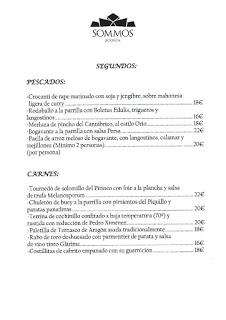 BARBASTRO. Nueva carta en RESTAURANTE SOMMOS, por 30 euros (hasta finales de septiembre)