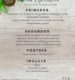 Nuevo menú semanal en DONDE CAROL, por 22 euros (del lunes, 2, al viernes, 6)