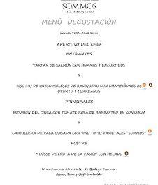 BARBASTRO. Menú degustación en RESTAURANTE SOMMOS, por 30 euros (hasta finales de septiembre)