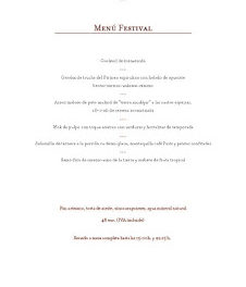 Menú festival en ARAGONIA PALAFOX, por 48 euros (hasta finales de verano)
