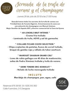 Jornada de la trufa de verano y el champán en DONDE CAROL (jueves, 26)