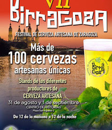BIRRAGOZA, festival de la cerveza artesana en Zaragoza (viernes y sábado, 31 de agosto y 1 de septiembre)