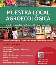 Actividades en el mercado agroecológico (sábado, 25)