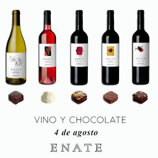 SALAS BAJAS. Cata de vino y chocolate en ENATE (sábado, 4)