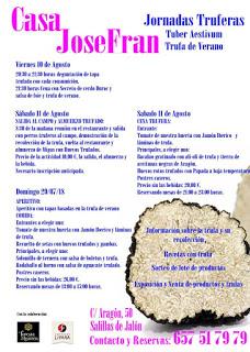 SALILLAS DE JALÓN. Jornadas truferas de verano (del 10 al 12)