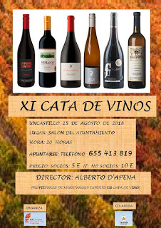 UNCASTILLO. XI Cata de vinos (sábado, 25)