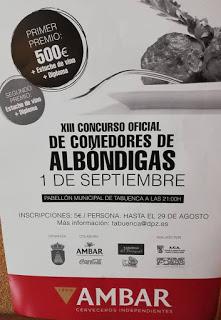 TABUENCA. XIII Concurso de comedores de albóndigas (sábado, 1 de septiembre)
