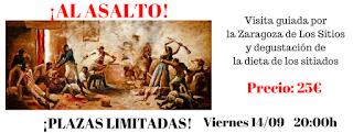 Ruta gastronómica por la Zaragoza de Los Sitios (viernes, 14)