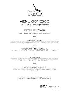 Jornadas sobre Goya en CAFÉ DE URRACA (hasta el 30 de septiembre)