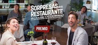 Jornadas Sorpresas en el restaurante (del 6 al 8 y del 13 al 15)