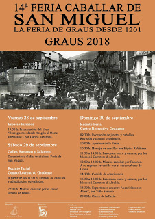 GRAUS. Feria caballar y de san Miguel (del 28 al 30)