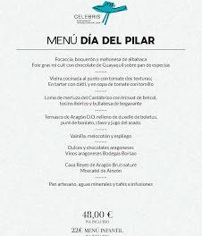 Menú especial del Día del Pilar en Celebris (viernes, 12)