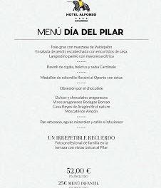 Menú especial del Día del Pilar en el Hotel Alfonso (viernes, 12)