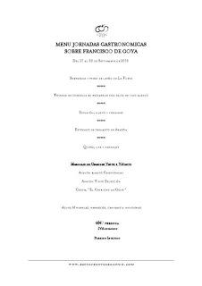 Jornadas sobre Goya en ARAGONIA PALAFOX (hasta el 30 de septiembre)