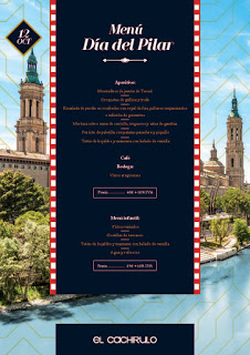 Menú del Día del Pilar en EL CACHIRULO (viernes, 12)