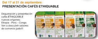 Presentación y degustación de cafés Ethiquable (del 17 al 21)