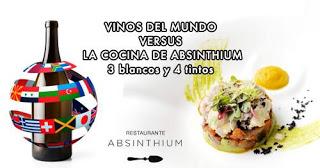 Vinos del mundo vs la cocina de ABSINTHIUM (jueves, 13)