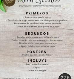 Nuevo menú semanal en DONDE CAROL, por 22 euros (del lunes, 24, al viernes, 28)
