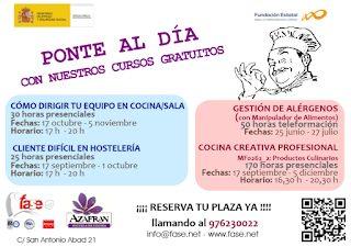 Cursos gratuitos para hosteleros (desde el lunes, 17)