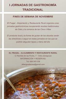 ORÉS. I Jornadas de Gastronomía Tradicional (fines de semana de noviembre)