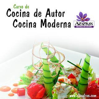 Curso de cocina de autor moderna en AZAFRÁN (martes, 30, al miércoles, 31)