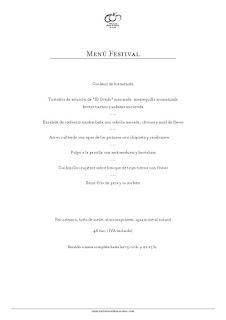Menú Festival en ARAGONIA PALAFOX, por 48 euros (hasta final de año)