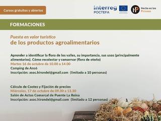 ANSÓ / PUENTE LA REINA. Puesta en valor turístico de los productos agroalimentarios (martes, 16, y miércoles, 17)
