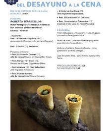 HUESCA. Taller gastronómico, Hotel Valdepalacios, del desayuno a la cena (lunes, 29)