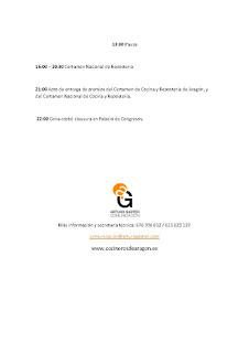 Certamen Nacional de Gastronomía (lunes y martes, 22 y 23)
