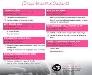 SOBRARBE. Concurso Tapasde10 (del 25 al 28 de octubre)