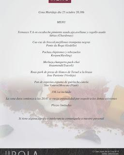 Cena maridada (jueves, 25)