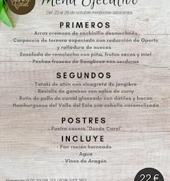 Nuevo menú semanal en DONDE CAROL, por 22 euros (del lunes, 22, al viernes, 26)