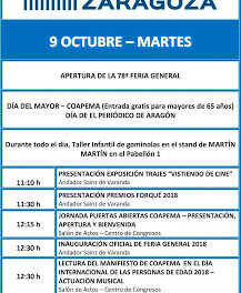 PILAR. Feria general de Zaragoza (del 9 al 14)