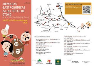 SIERRA DE ALBARRACÍN. Jornadas gastronómicas de las setas (días 20-21 y 27-28)