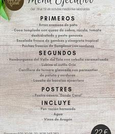 Nuevo menú semanal en DONDE CAROL, por 22 euros (del martes, 16, al viernes, 19)