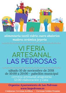 LAS PEDROSAS. VI Feria Artesanal (sábado, 10)
