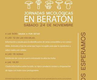 BERATÓN. Jornadas micológicas (sábado, 24)
