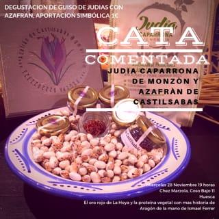 HUESCA. Cata comentada de judía caparrona y azafrán (miércoles, 28)