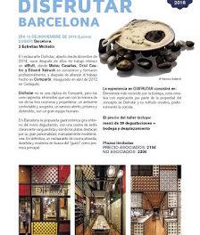 BARCELONA. Viaje gastronómico al restaurante Disfrutar (lunes, 12)