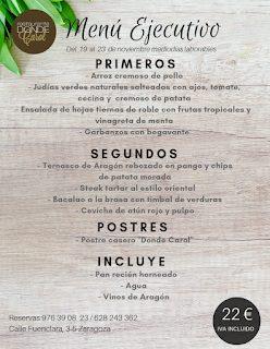 Nuevo menú semanal en DONDE CAROL, por 22 euros (del lunes, 19, al viernes, 23)