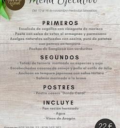 Nuevo menú semanal en DONDE CAROL, por 22 euros (del lunes, 12, al viernes, 16)