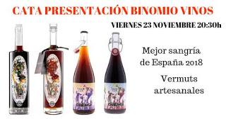 Cata maridada de bebidas Binomio (viernes, 23)