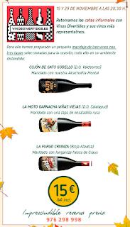 Cata de vino (jueves, 15)