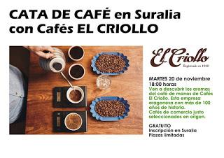 Degustación de cafés El Criollo (martes, 20)