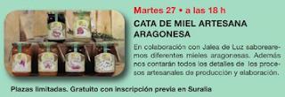 Cata de miel artesana aragonesa (martes, 27)