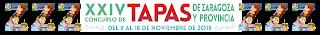 ZARAGOZA Y PROVINCIA. XXIV Concurso de tapas de Zaragoza y provincia (del jueves, 8, al domingo, 18)