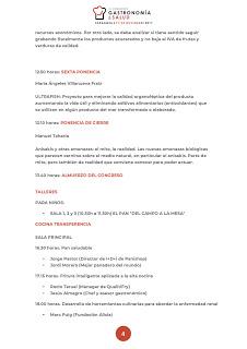 Congreso Gastronomía y salud (miércoles y jueves, 21 y 22)