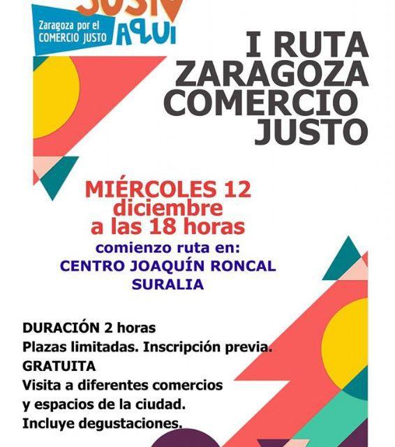I Ruta 'Zaragoza Ciudad por el Comercio Justo' (miércoles, 12)