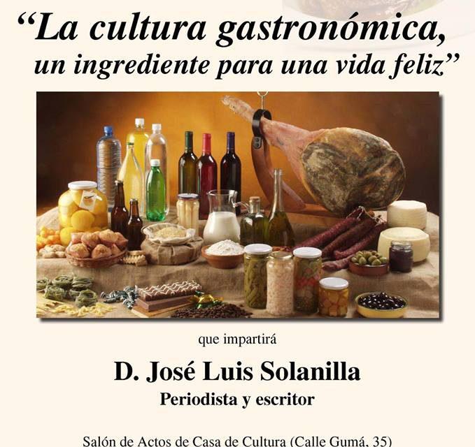 CASPE. Charla sobre cultura gastronómica (viernes, 14)